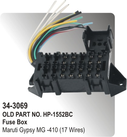 62216767 fuse box maruti gypsy mg 410 (17 wires) (hp 34 3069) for maruti replacement fuse box price at eliteediting.co