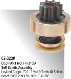 Self Bendix Leyland Cargo / 709 12 Volt equivalent to 2006 209 470 / 9001 036 203 (HP-02-323#)