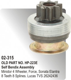 Self Bendix Minidor 4 Wheeler, Force, Sonata Elantera equivalent to 26242436 (HP-02-315)