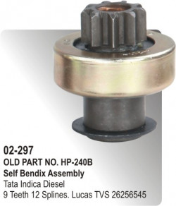 Self Bendix Tata Indica Diesel equivalent to 26256545 (HP-02-297)