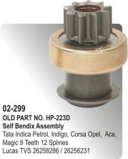 Self Bendix Tata Indica Petrol, Indigo, Corsa Opel, Tata Ace, Tata Magic equivalent to 26258286 / 26256231 (HP-02-2