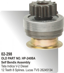 Self Bendix Tata Indica V-2 Diesel equivalent to 26245134 (HP-02-298)
