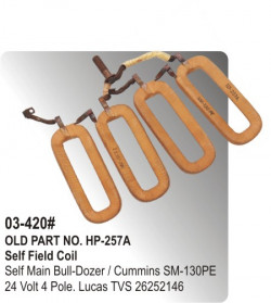Self Field Coil Self Main Bull-Dozer / Cummins SM-130PE 24 Volt 4 Pole equivalent to 26252146 (HP-03-420#)