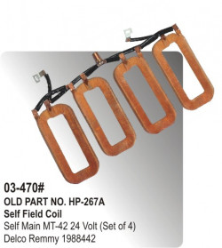 Self Field Coil Self Main MT-42 24 Volt (Set of 4) equivalent to Delco Remmy 1988442 (HP-03-470#)