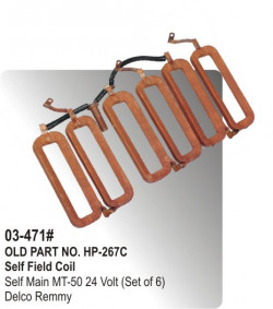 Self Field Coil Self Main MT-50 24 Volt (Set of 6) equivalent to Delco Remmy (HP-03-471#)