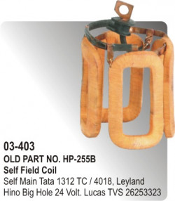 Self Field Coil Self Main Tata 1312 TC / Tata-4018, Leyland Hino Big Hole 24 Volt equivalent to 26253323 (HP-03-403