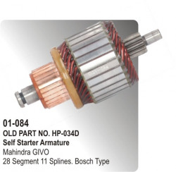 Self Starter Armature Mahindra GIVO equivalent to Bosch Type (HP-01-084)