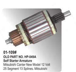 Self Starter Armature Mitsubishi Canter New Model 12 Volt equivalent to Mitsubishi (HP-01-109#)