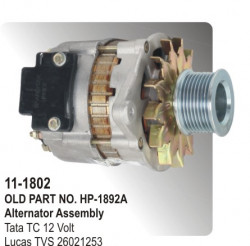 Alternator Assembly Tata TC 12 Volt equivalent to 26021253 (HP-11-1802)