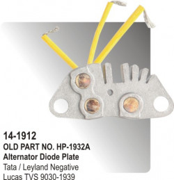 Alternator Rectifier Assembly Tata / Leyland Nagative equivalent to 9030-1939 (HP-14-1912)