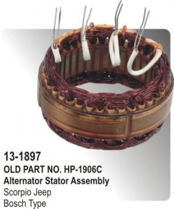 Alternator Stator Assembly Scorpio equivalent to Bosch Type (HP-13-1897)