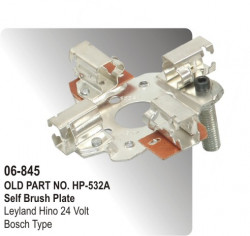 Self Brush & Rocker Plate Leyland Hino 24 Volt equivalent to Bosch Type (HP-06-845)