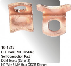 Self Connection Patti DCM Toyota (Set of 2) equivalent to ND 1.3 / 1.4 / 2.0 With 8 MM Hole OSGR Starters (HP-10-1212)