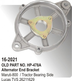 Alternator End Bracket Maruti-800 / Tractor Bearing Side equivalent to 26211629 (HP-16-2021)