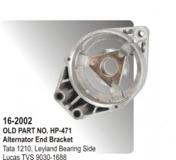 Alternator End Bracket Tata 1210, Leyland Bearing Side equivalent to 9030-1688 (HP-16-2002)
