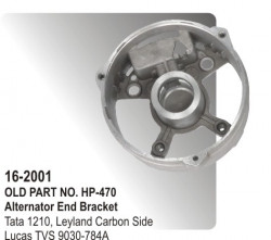 Alternator End Bracket Tata 1210, Leyland Carbon Side equivalent to 9030-784A (HP-16-2001)