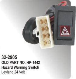 Hazard Warning Switch Leyland 24 Volt (HP-32-2905)
