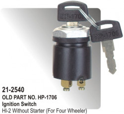 Ignition Switch Ape Piaggio With Starter Metal Body equivalent to (HP-21-2540)