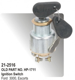 Ignition Switch Ford 3000, Escorts New Model, Swaraj Tractor 3 Pole With Starter Without Parking (HP-21-2516)