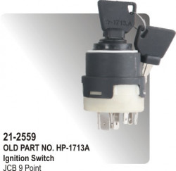 Ignition Switch JCB 11Point equivalent to (HP-21-2559)