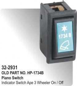 Piano Switch Indicator Switch Ape Three Wheeler On / Off (HP-32-2931)