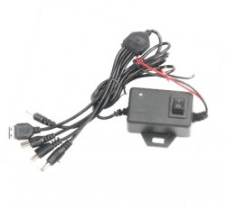 DC Mobile Charger With Off / On Switch Five in One (HP-43-3752)