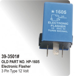 Electronic Flasher 3 Pin Type 12 Volt (HP-39-3501#)