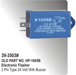 Electronic Flasher 3 Pin Type 12 Volt With Buzzer (HP-39-3503#)