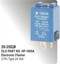 Electronic Flasher 3 Pin Type 24 Volt (HP-39-3502#)