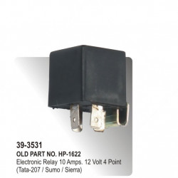 Electronic Relay 10 Amps. 12 Volt 4 Point (Tata-207 / Sumo / Sierra) (HP-39-3531)