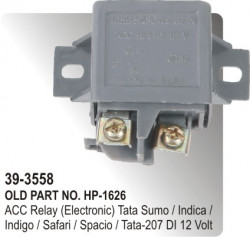 Electronic Relay 30 Amps. 12 Volt 5 Point Without Bracket Tata Sumo / Sierra / Estate / 207 Telco Vehicles Plastic Body Universa