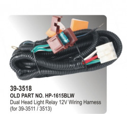 Head Light Relay Electronic 12 Volt Wiring Hardness (for 39-3511 / 3513) (HP-39-3518)