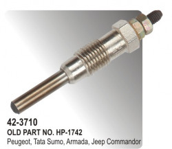 Heater Plug (Glow Plug)  Peugeot, Tata Sumo, Armada, Jeep Commandor (HP-42-3710)