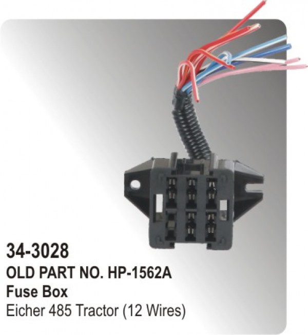 fuse box eicher tractor 12 wires hp 34 3028 for parts big boss fuse box eicher tractor 12 wires hp 34 3028