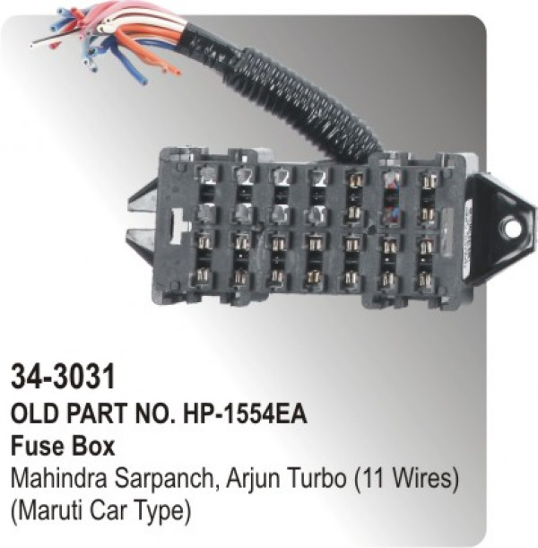 fuse box mahindra sarpanch arjun turbo wires maruti car fuse box mahindra sarpanch arjun turbo 11 wires maruti car type hp 34 3031