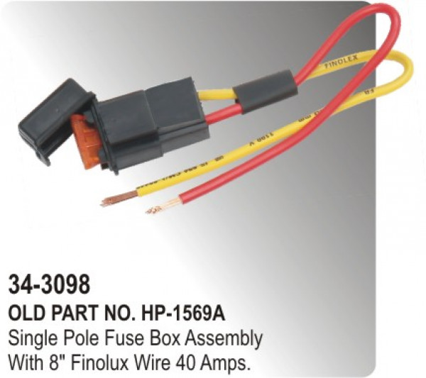 fuse box single pole fuse box assembly with 8 finolux wire 40 amp hp 34 3098 rh partsbigboss in fuse box assembly for 2007 dodge caliber fuse box assembly battery mounted