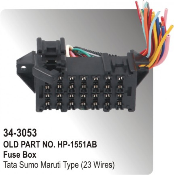 fuse_box_tata_sumo_maruti_type_23_wires_hp_34_3053_ buy fuse box for cars, spare parts online at lowest price parts santro xing fuse box diagram at reclaimingppi.co